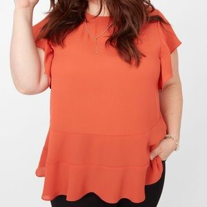 Stella & Dot Addison Top - Burnt Orange